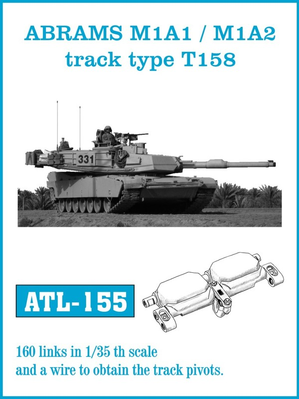 Friulmodel 1/35 ABRAMS M1A1 / M1A2 track type T158 # ATL-155