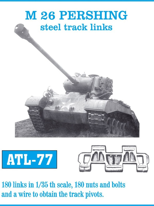 Friulmodel 1/35 M 26 PERSHING steel track links # ATL-77