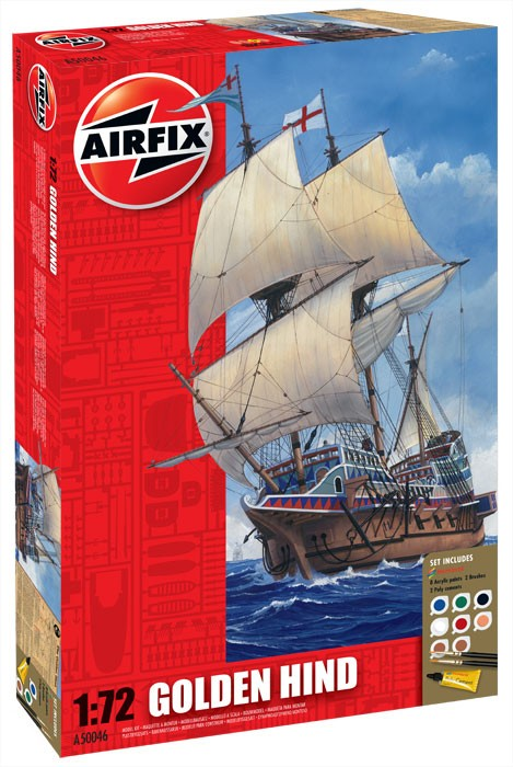 Airfix 1/72 Golden Hind gift set # 50046
