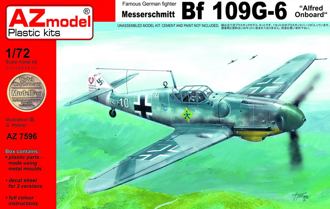 "AZ Model 1/72 Messerschmitt Bf-109G-6 ""Alfred on-board"" # 7596"