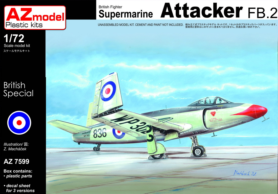 AZ Model 1/72 Supermarine Attacker FB.2 # 7599