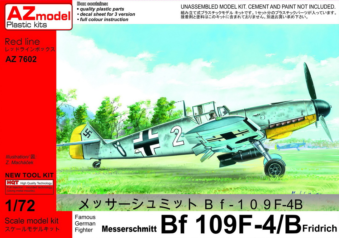 "AZ 1\72 Messerschmitt Bf-109F-4/B ""Fighter-Bomber"" # 7602"