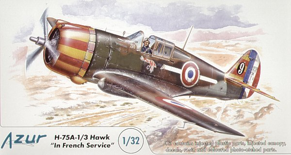 Azur 1/32 Curtiss H-75A-1/3 Hawk in French Service # A045
