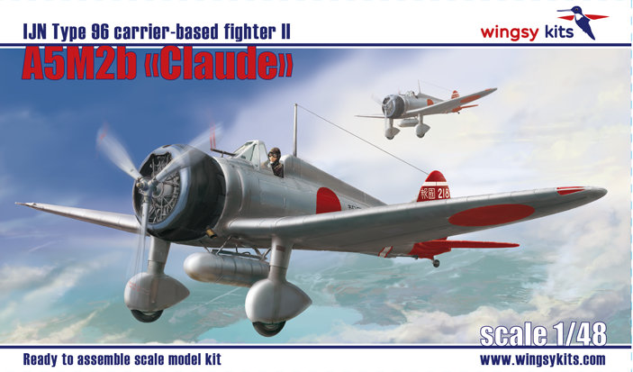 "Wingsy Kits 1/48 IJN Type 96 carrier-based fighter II A5M2b ""Claude"" (late version) D5-01"