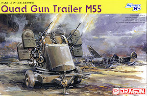 DRAGON 1/35 - U.S. M55 0.50CAL. QUAD GUN TRAILER # 6421