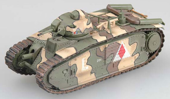 EASY MODEL 1/72  Char B1 May 1940,France 3nd company # 36159