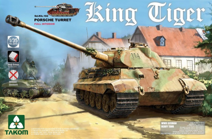 Takom 1/35 King Tiger Sd.Kfz.182 PORSCHE TURRET # 2074
