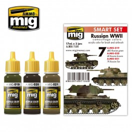 A-MIG RUSSIAN WWII COLORS SET # 7136