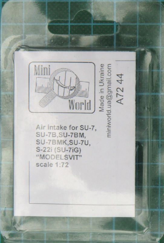 "Mini World 1/72 Air Intake for Su-7, Su-7B, Su-7BM, Su-7BMK, Su-7U, S-22i Su-7iG ""MODELSVIT"" # 7244"