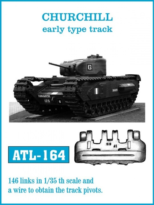 Friulmodel 1/35 CHURCHILL early type track # ATL-164