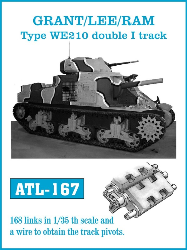 Friulmodel 1/35 Grant / LEE / RAM - Typ WE210 double I track # ATL-167
