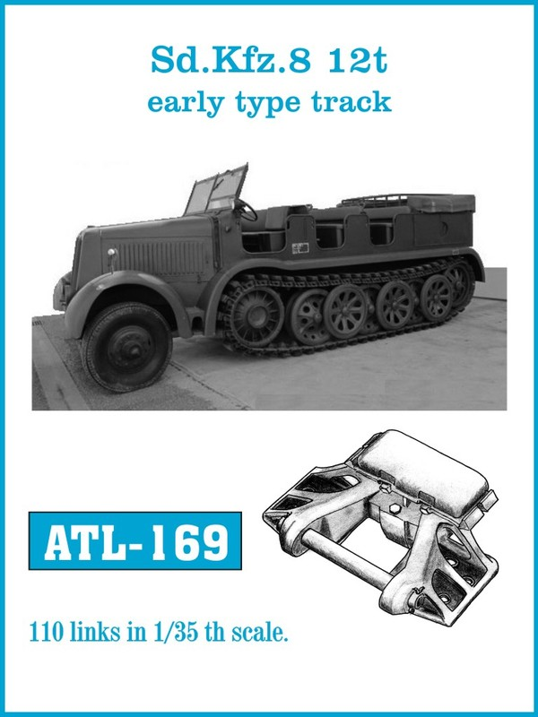Friulmodel 1/35 Sd.Kfz.8 12t Zgkrw.early type track # ATL-169