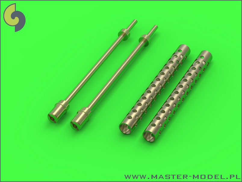 Master Model 1/35 Browning M1919 .30 cal machine gun barrels – one piece muzzle (cylindrical shape) (2pcs) # 35-005