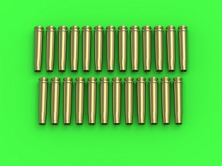 Master Model 1/35 German 2cm ammunition (cal. 20x138B) for Flak 30/38, KwK 30/38 - empty shells (25pcs) # GM-35-018