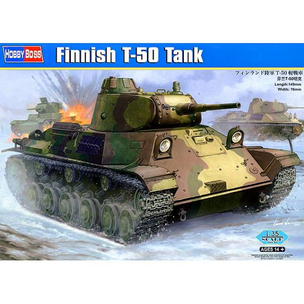 Finnish T-50 Tank # 135 HOBBY BOSS # 83828