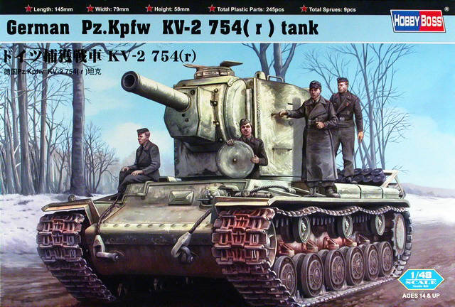 Hobby Boss 1/48 German Pz.Kpfw KV-2 754(r) # 84819