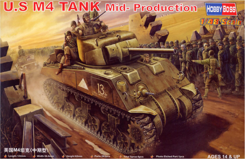 Hobby Boss 1/48 M4 Sherman Mid Production # 84802