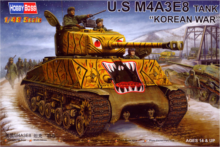 Hobby Boss 1/48 M4A3E8 Sherman Korean War # 84804