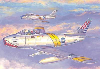 AFV CLUB 1/48 F-86F BLOCK 30 IN R.O.C. AIR FORCE # #48002