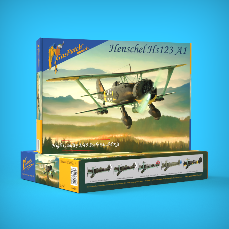 GasPatch Models 1/48 Henschel HS 123 A1 1/48 # 48095