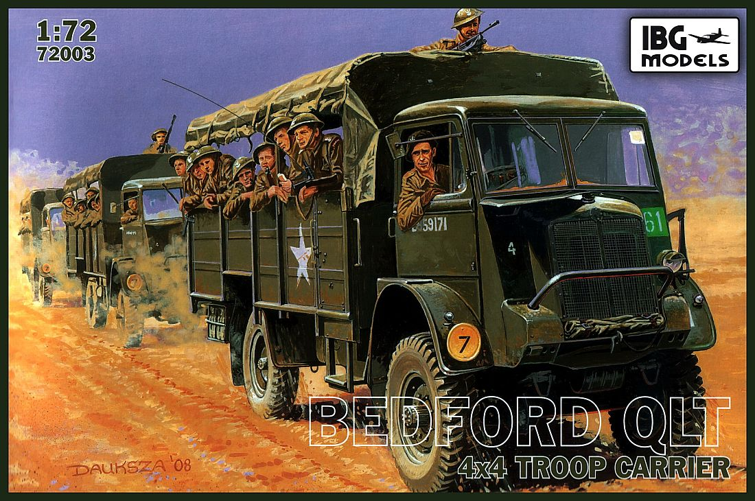 IBG model 1/72 Bedford QLT 4x4 Troop Carrier # 72003