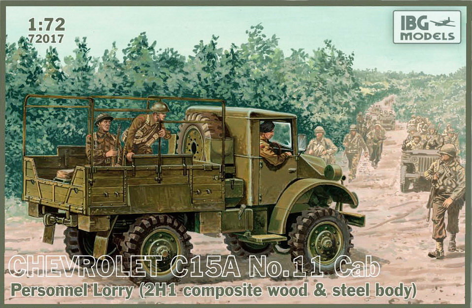 IBG model 1/72 Chevrolet C15A No.11 Cab Personnel Lorry (2H1 Composite wood & steel body) # 72017