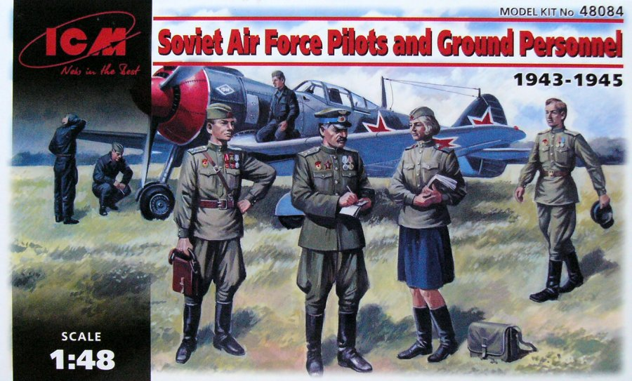 ICM 1/48 Soviet Air Force Pilots and Ground Personnel 1943-1945 # 48084