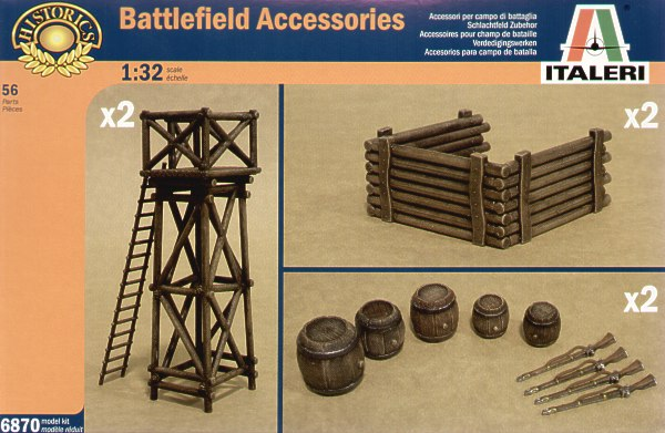 Italeri 1/32 Battlefield Accessories # 6870