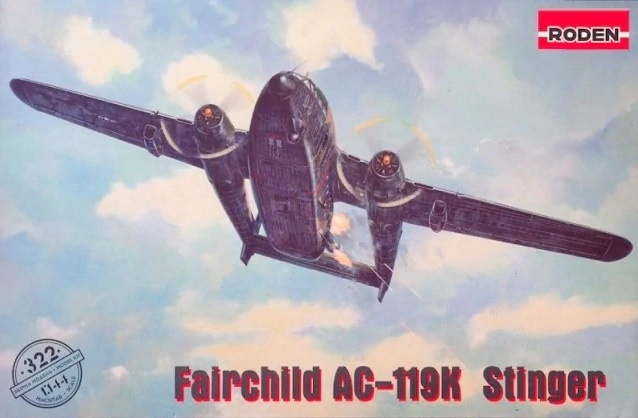 Roden 1/144 Fairchild AC-119K Stinger # 322