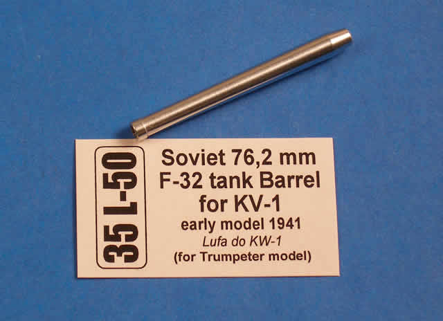 Aber 1/35 Soviet 76,2 mm F-32 tank barrel for KV-1 - early model # 35L50