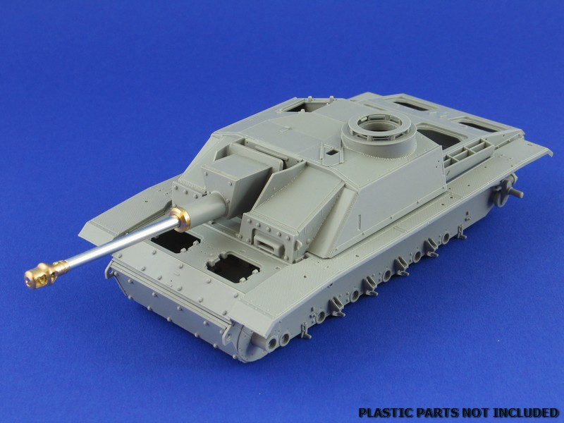 Aber 1/35 German StuK.40 L/48 7,5cm barrel with early model muzzle brake for StuG.III Ausf.F/8 and StuG.III Ausf.G early 3 35L58