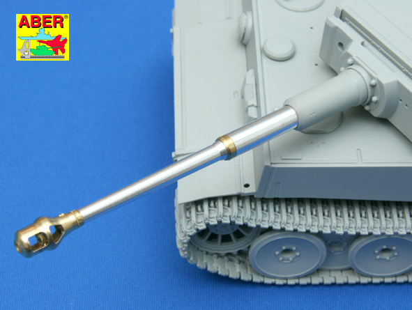 Aber 1/35 German 88mm Kwk 36 L/56 Barrel with early muzzle brake for Tiger I Early # 35L76