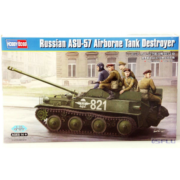 Hobbyboss 1/35 Russian ASU-57 Airborne Tank Destroyer # 83896