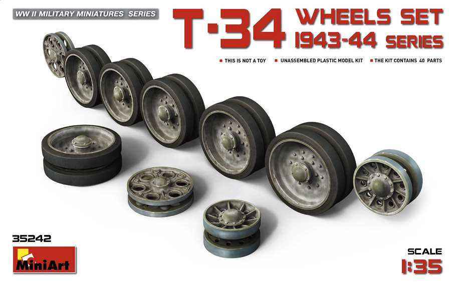 MiniArt 1/35 T-34 Wheels 1943-44 # 35242