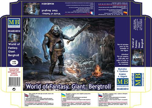 Master Box 1/24 World of Fantasy. Giant. Bergtroll # 24014