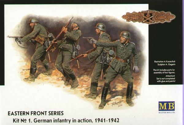 Master Box 1/35 German Infantry in Action 1941-42 # 3522