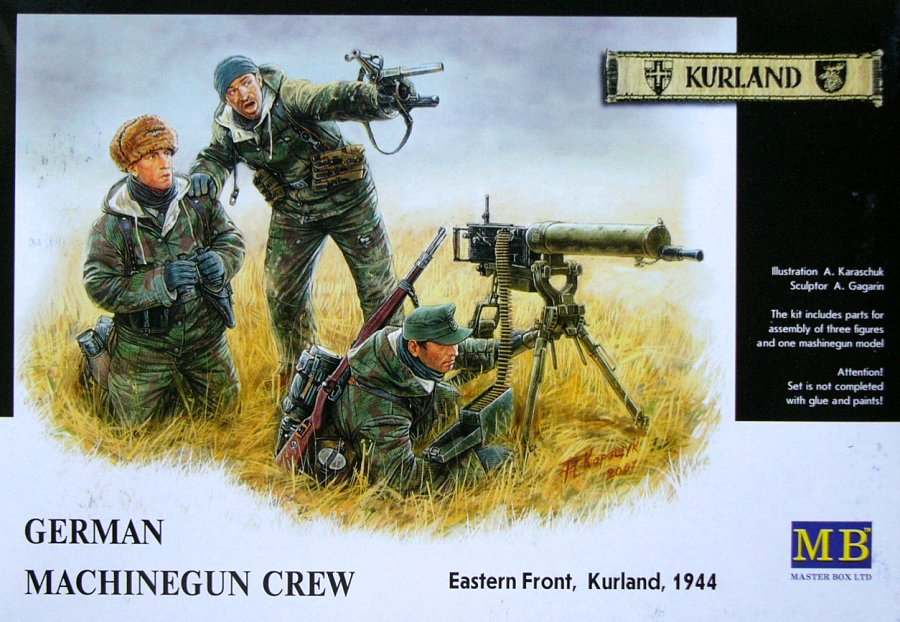 Master Box 1/35 German Machine Gun Crew Eastern Front Kurland 1944 # 3526