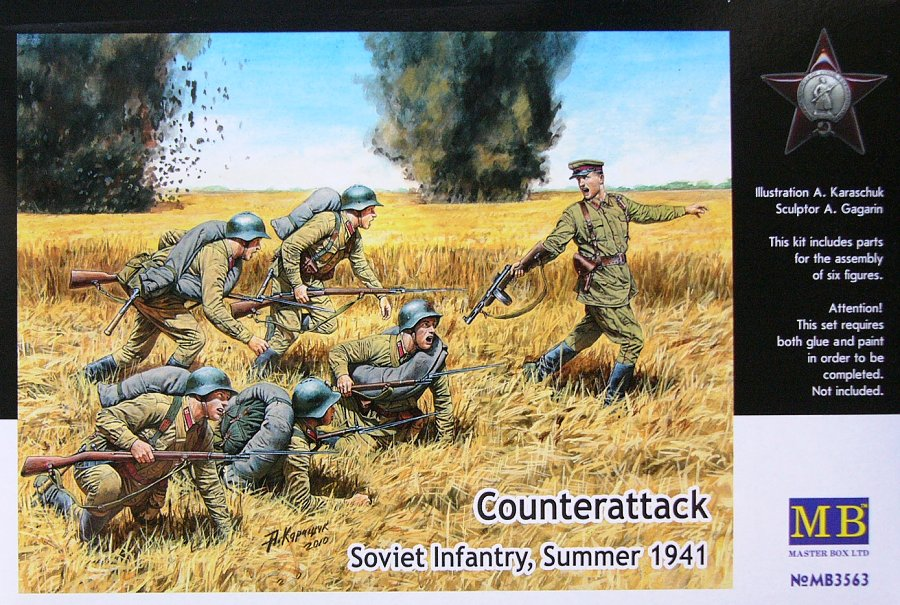 Master Box 1/35 Counterattack Soviet Infantry Summer 1941 # 3563