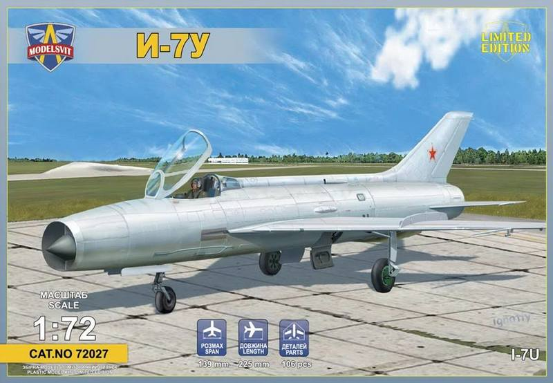 Modelsvit 1/72 I-7U Supersonic interceptor prototype # 72027