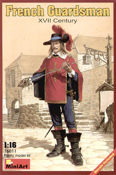 MiniArt 1/16 French Guardsman XVII Century # 16011