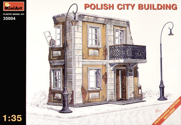 MiniArt 1/35 Ruined Polish City Building # 35004