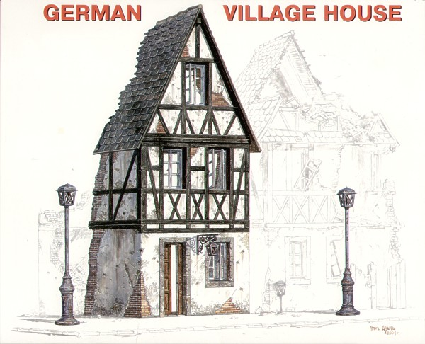 MiniArt 1/35 Ruined German Village House # 35012