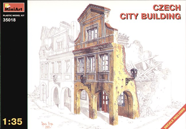 MiniArt 1/35 Ruined Czech City Building # 35018