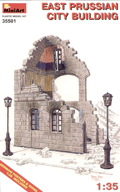 MiniArt 1/35 Ruined East Prussian City Building # 35501