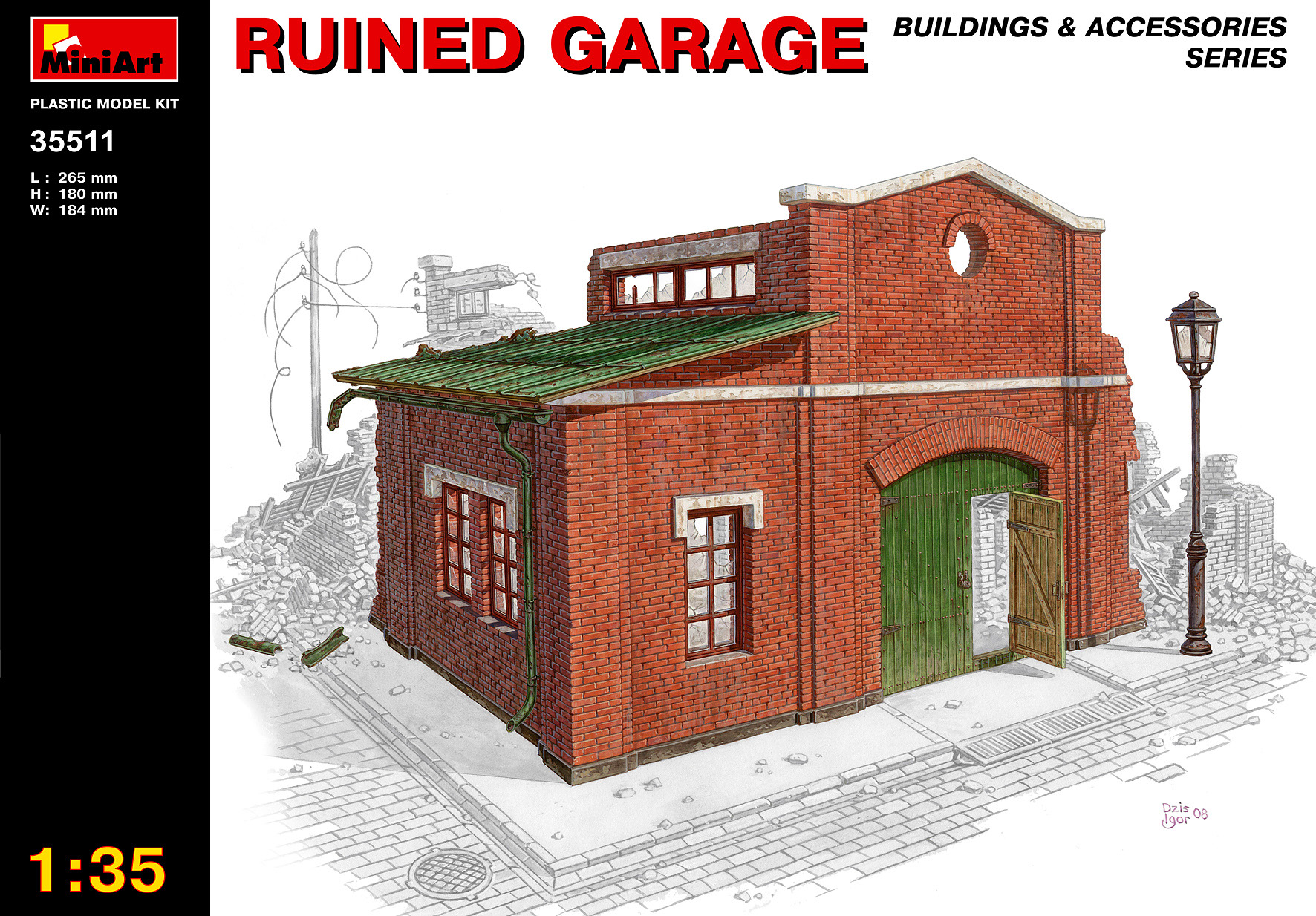 MiniArt 1/35 Ruined Garage # 35511