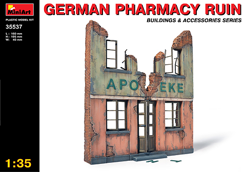 MiniArt 1/35 Pharmacy Ruin # 35537