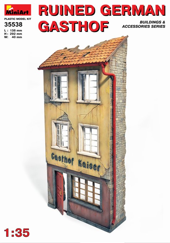 MiniArt 1/35 Ruined German Gasthof # 35538