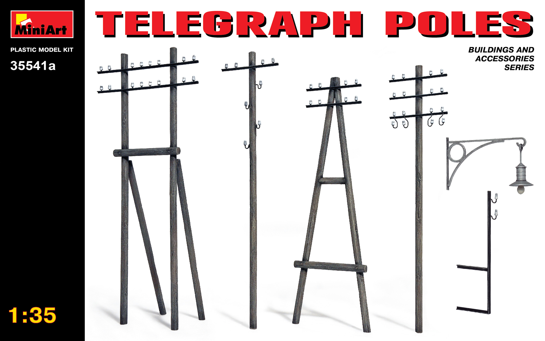 MiniArt 1/35 Telegraph Poles updated # 35541A