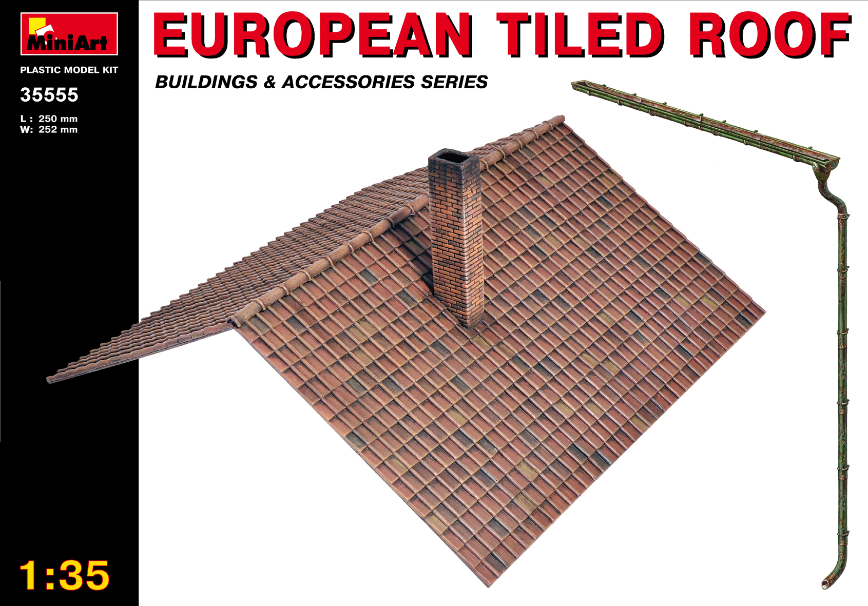 MiniArt 1/35 European Tiled Roof # 35555