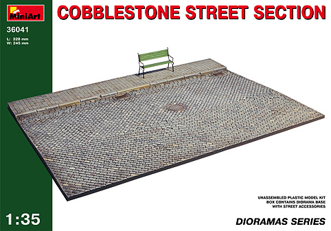 MiniArt 1/35 Cobblestone Street Section # 36041